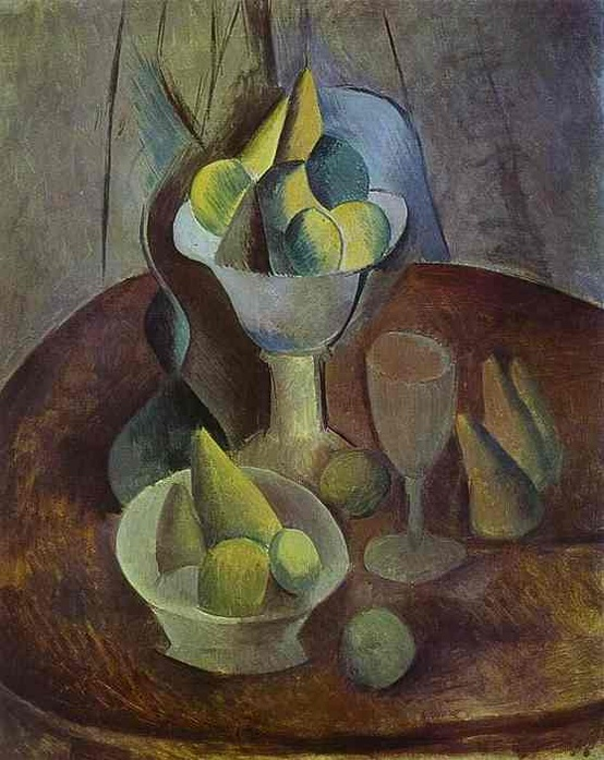 Photo:  'Compotier, Fruit and Glass' in 1909 by Pablo Picasso