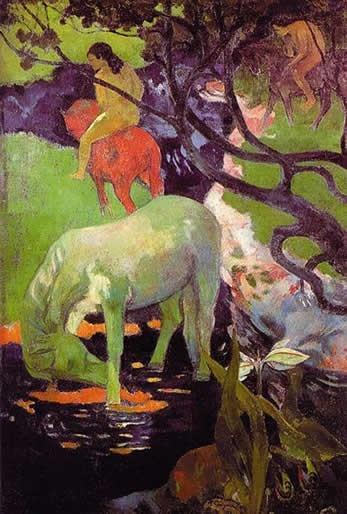 Photo:  Paul Gauguin 'The white horse', 1898
