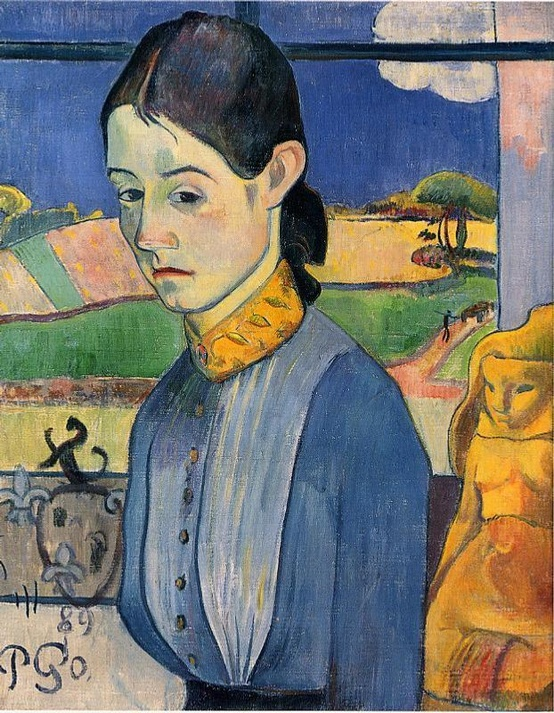 Photo:  Paul Gauguin , Young Breton Woman ,1889