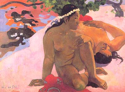Photo:  Paul Gauguin, Aha oe feii (Eh qoui, tu es jalouse), 1892
