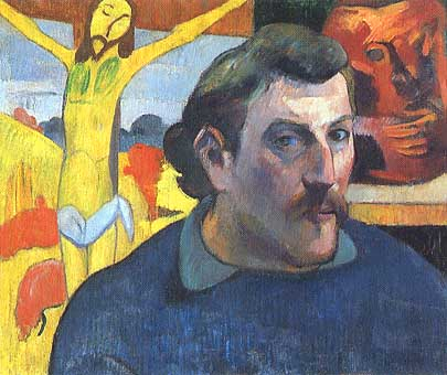 Photo:  Paul Gauguin, Autoportrait au Christ jaune, 1889