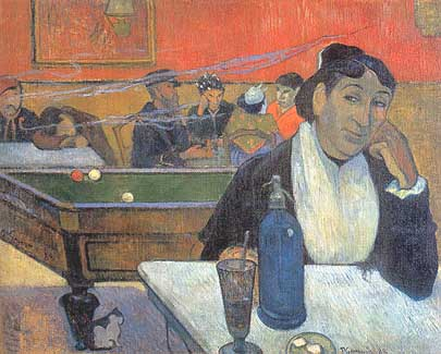 Photo:  Paul Gauguin, Café à Arles, 1888