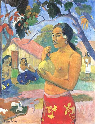 Photo:  Paul Gauguin, Ea haere ia oe (La femme au fruit), 1893