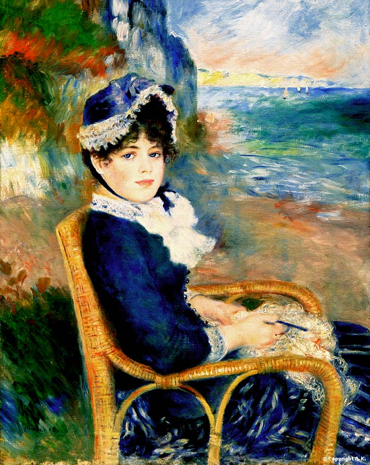 Photo:  Pierre Auguste Renoir,By the Seashore, 1883