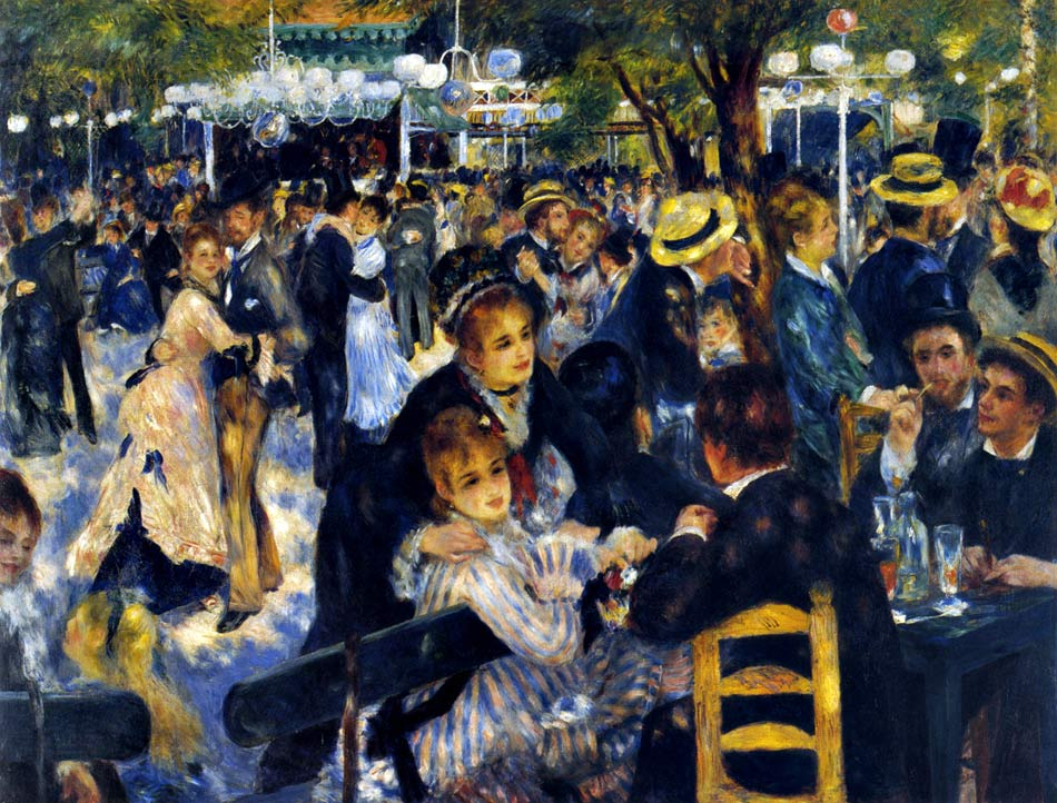 Photo:  Pierre Auguste Renoir,Dance at Le Moulin de la Galette, Montmartre, 1876