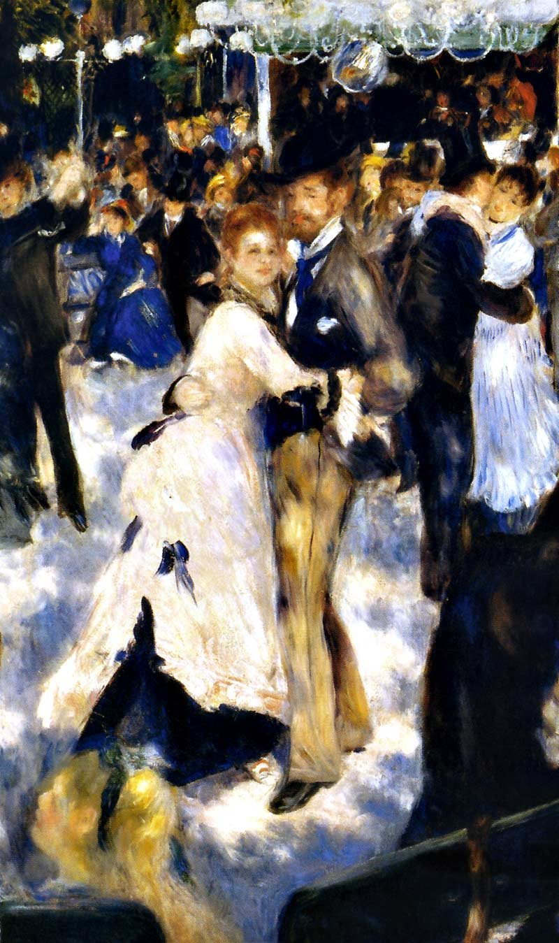 Photo:  Pierre Auguste Renoir,Dance at Le Moulin de la Galette, Montmartre, Detail, 1876