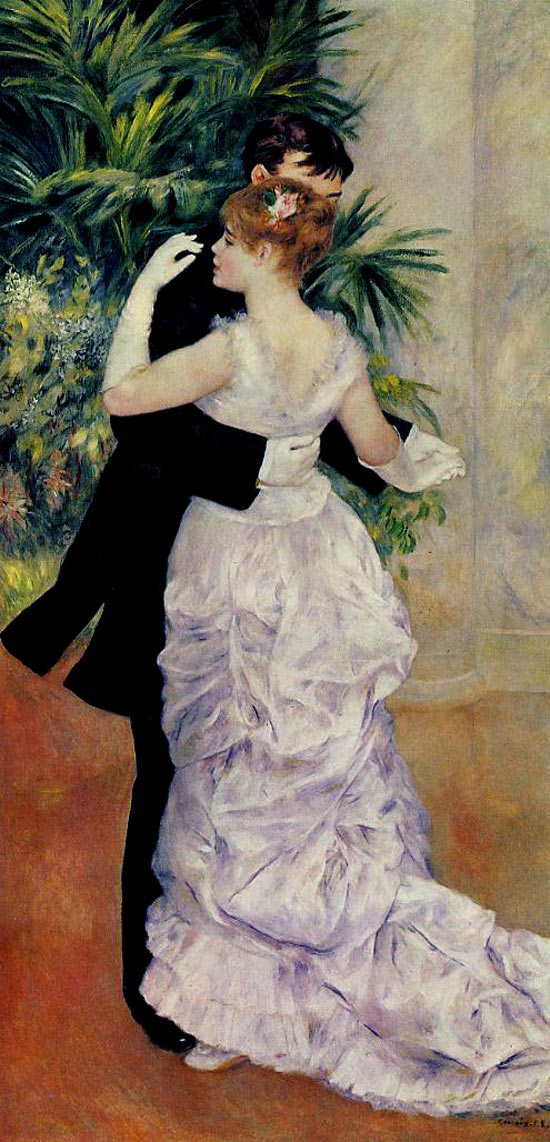Photo:  Pierre Auguste Renoir,Dance in the City, 1883