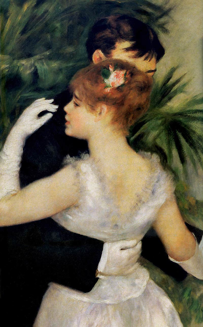 Photo:  Pierre Auguste Renoir,Dance in the City, Detail, 1883
