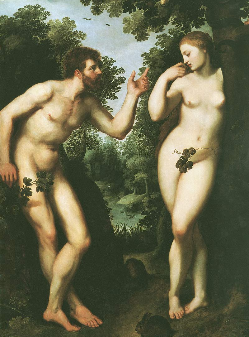 Photo:  Peter Paul Rubens,Adam and Eve, 1597