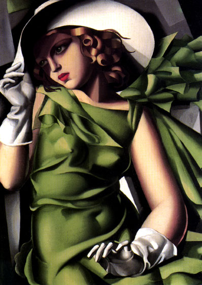 Photo:  Tamara de Lempicka-Girl-in-a-Green-Dress-1930