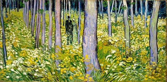 Photo:  Undergrowth with Two Figures, Van Gogh, 1890