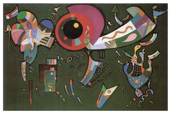 Photo:  Kandinsky. Around the circle, 1940