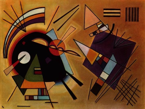 Photo:  Kandinsky. Black and Violet. 1923.