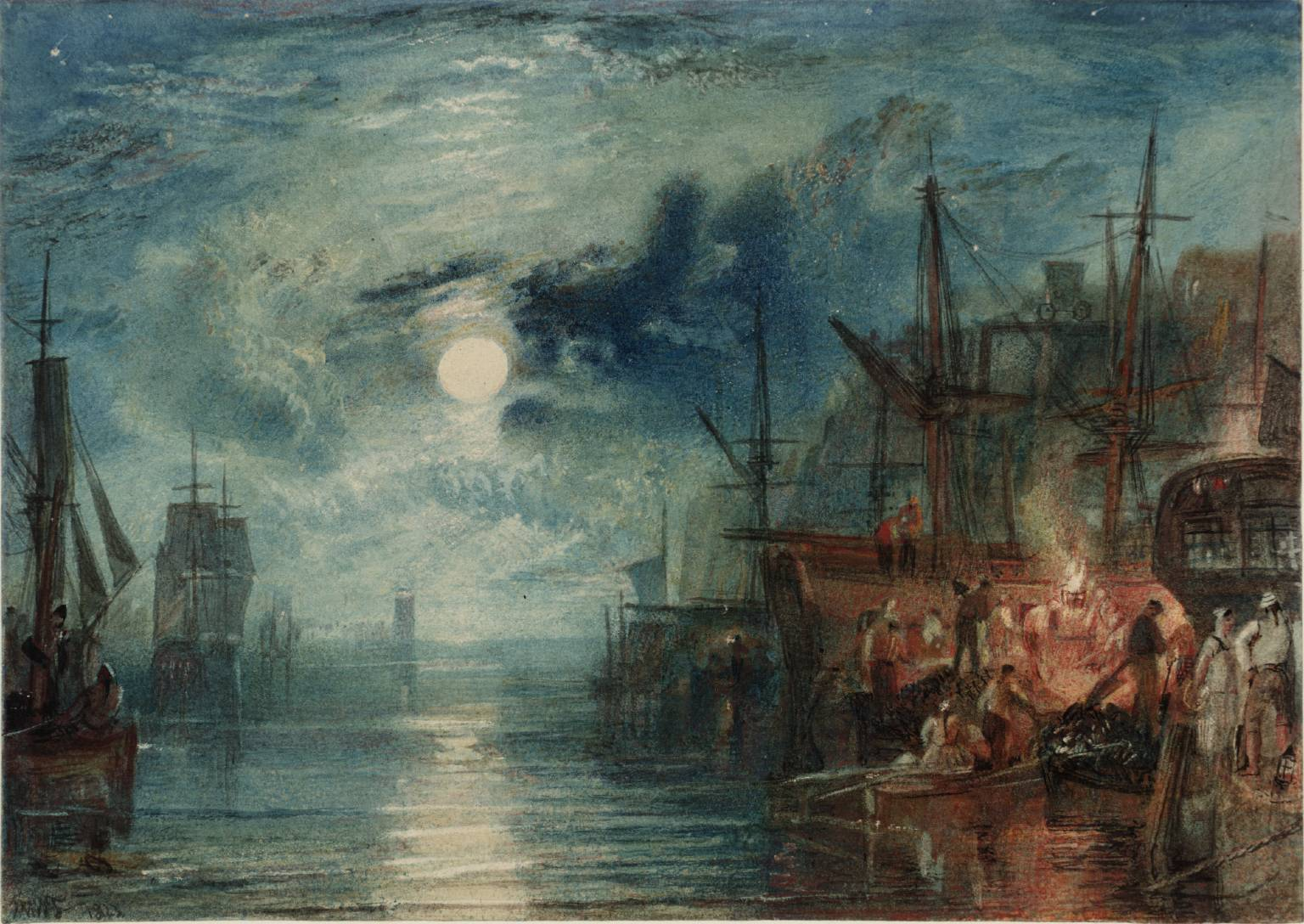 Photo:  Shields, on the River Tyne', Joseph Mallord William Turner, 1823