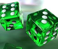 Photo:  green dice