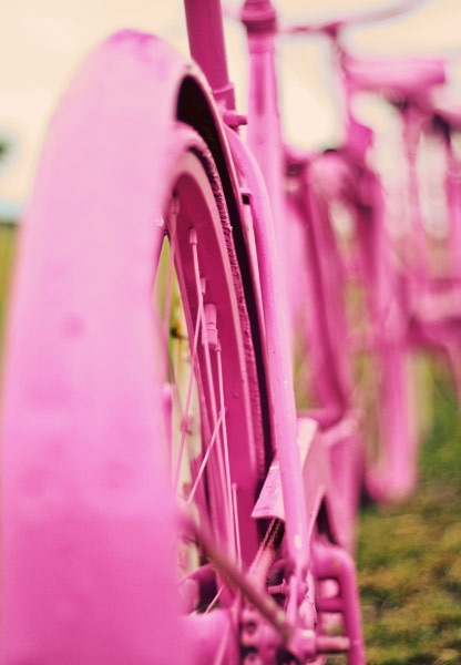 Photo:  Pink bicycle
