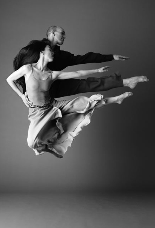 Photo:  'Parallel Jump' Stephen Pier and Miki Orihara