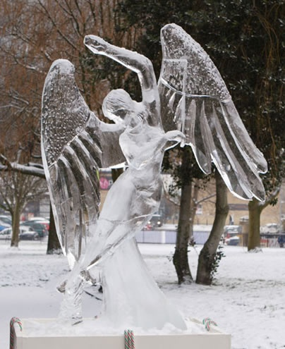 Photo:  Angel Ice Sculpture