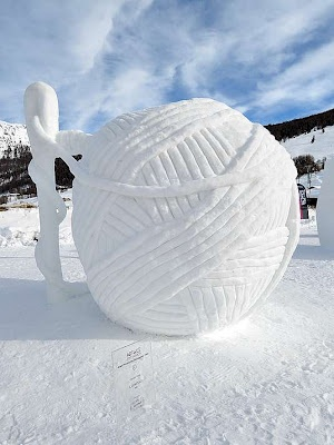 Photo:  Ice and snow sculpture
