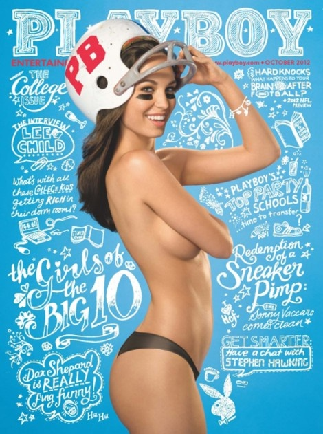 Photo:  Cover for Playboy magazine October 2012