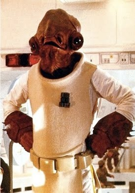 Photo:  Admiral Ackbar (Mon Calamari, Star Wars)