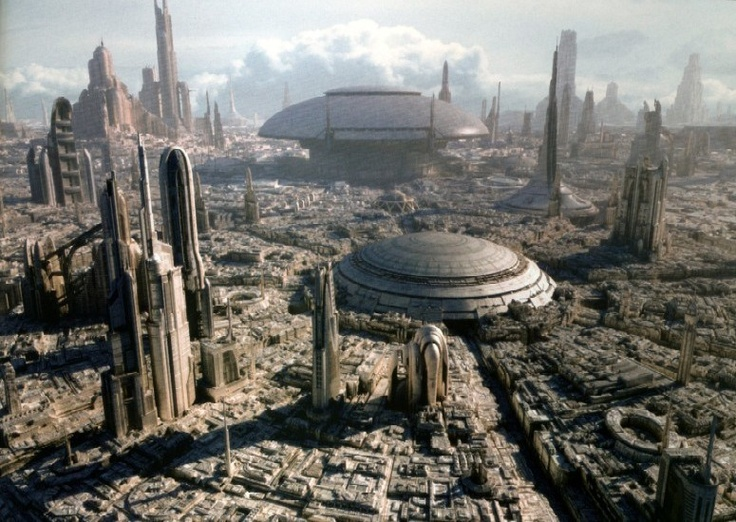 Photo:  Coruscant City in Star Wars