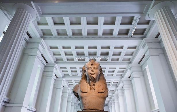 Photo:  BM Colossal granite head of Amenhotep III