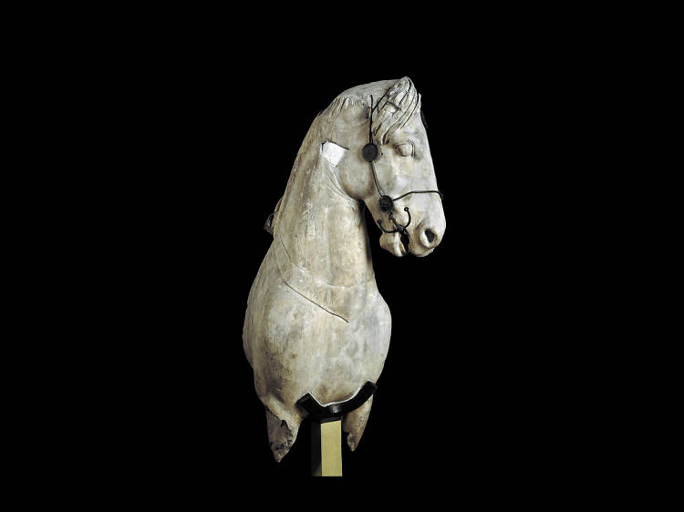 Photo:  BM Colossal horse from Halikarnassos