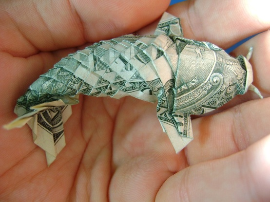Photo:  Origami Dollar Koi