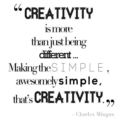 Photo:  creativity quote 003-Creativity-is more than-just being-simple