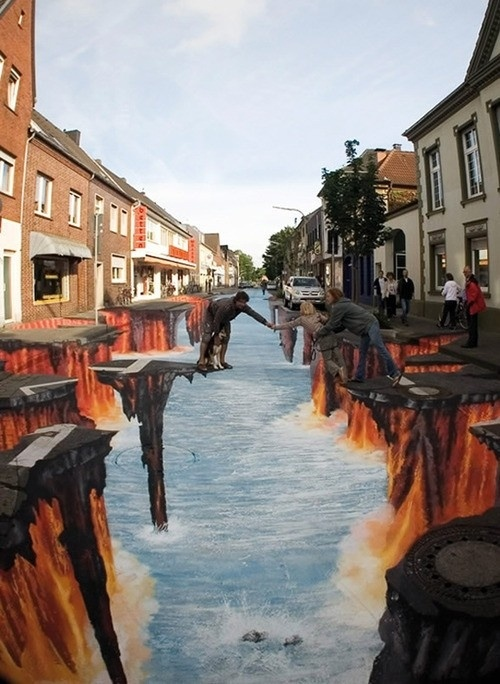 Photo:  3D Chalk Art, Germany