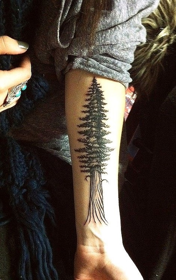 Pftw nature tattoo for Tree tattoo on forearm