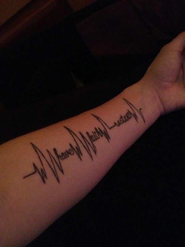 Pftw writing tattoo for Tattoo forearm writing