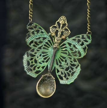 Photo:  butterfly collana