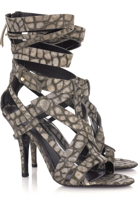 Photo:  Alligator Print Leather Sandals