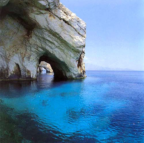 Photo:  Blue Caves. Island if Zacynthos, Greece.