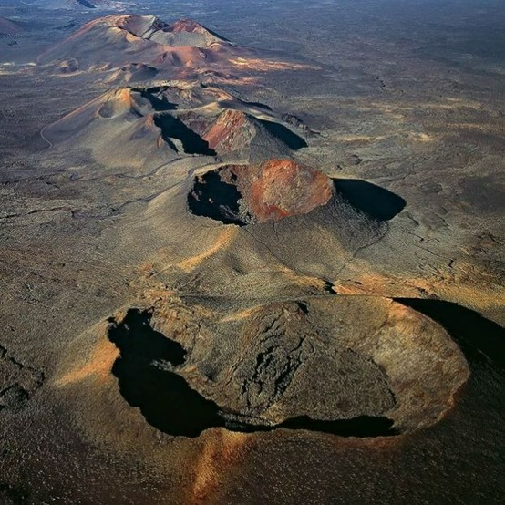 Photo:  Aerial  craters