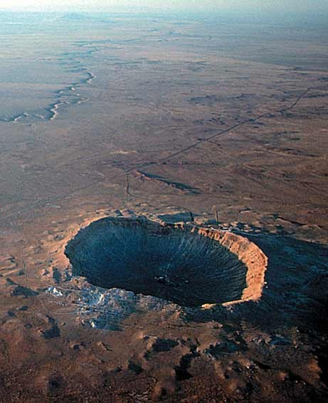 Photo:  Arizona's Barringer Meteor Crater