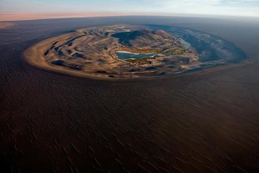 Photo:  The Waw an Namus volcanic crater, Libya