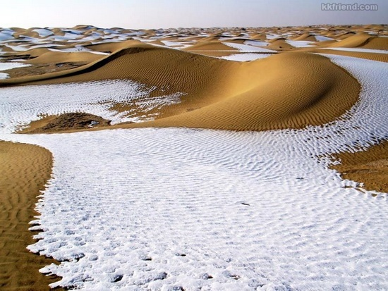 Photo:  A Desert Covered With Snowfall