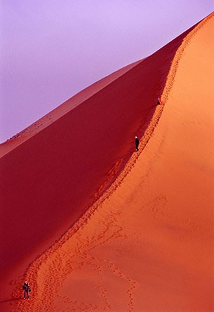 Photo:  Climbers on Big Red in Namibia
