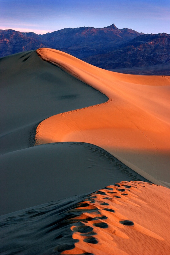 Photo:  Death Valley sunrise, California