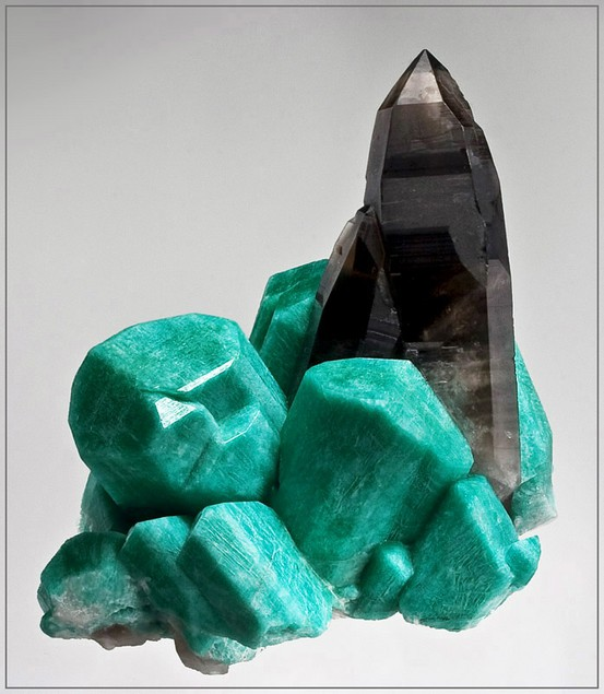 Photo:  Amazonite & Smoky Quartz