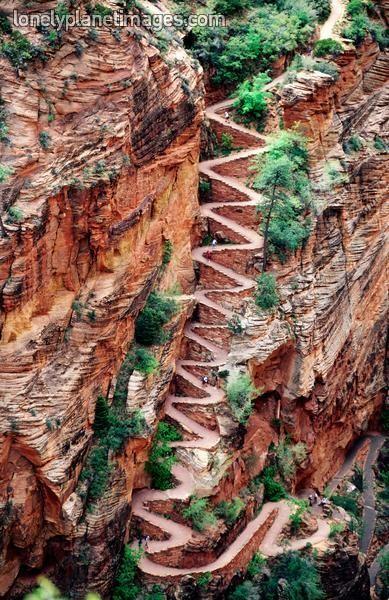 Photo:  Angel's Landing in Zion N.P. Utah