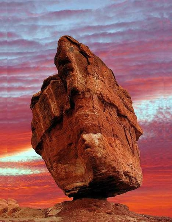 Photo:  Balanced Rock in the Garden of the Gods, Colorado Springs, Colorado