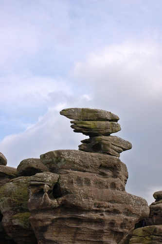 Photo:  Balancing rocks at Brimham Rocks.