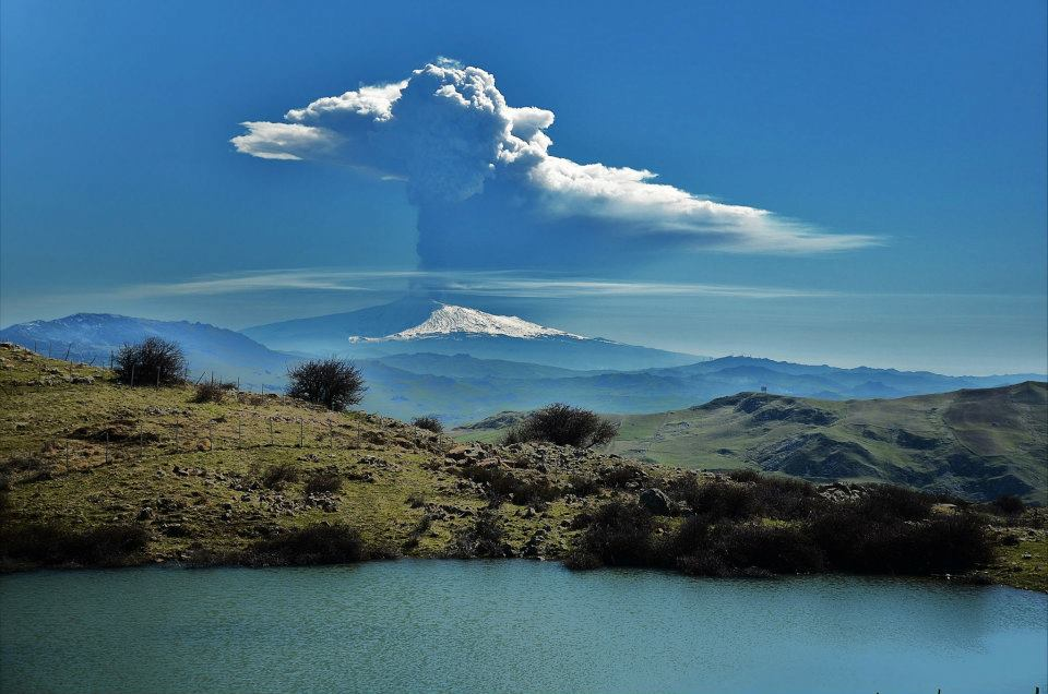 Photo:  Mount Etna from Petralia Soprana