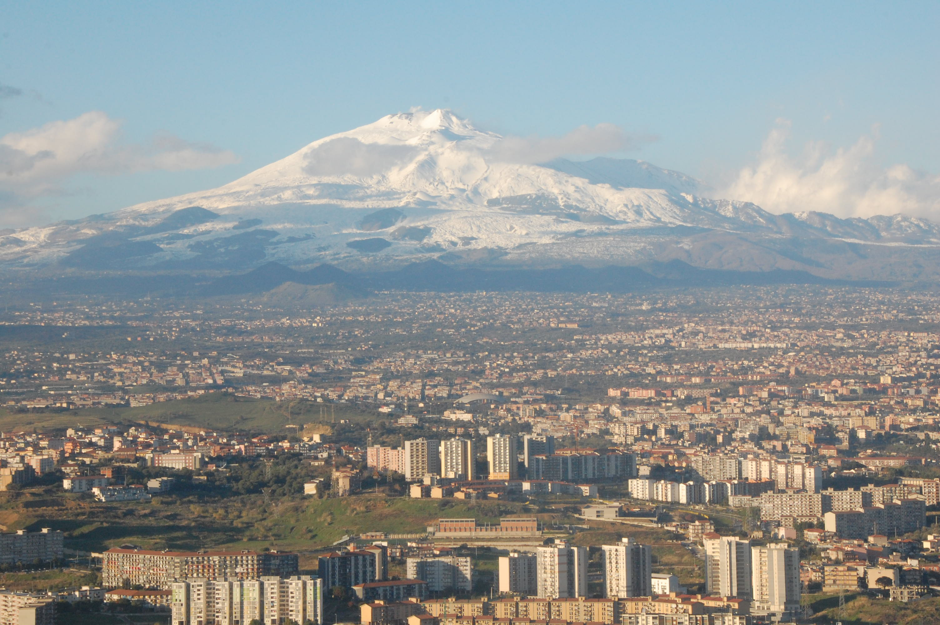 Photo:  Mt Etna and Catania