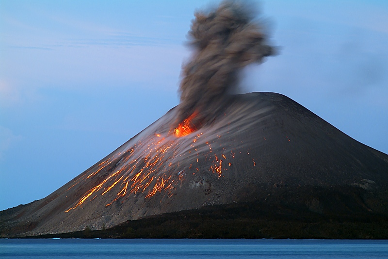 Photo:  stromboli eruption
