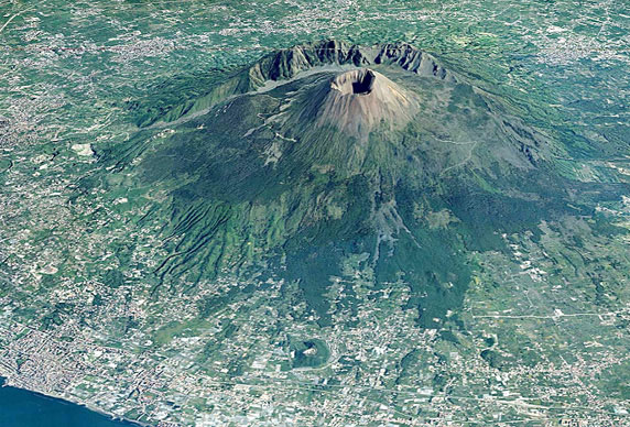 Photo:  vesuvio aerial view